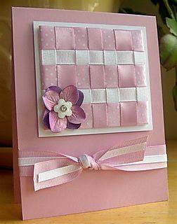 May Papertrey Color Ribbon Card