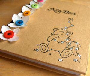 Notebook close up
