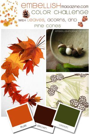 Embellish - Pine Cones Acorn