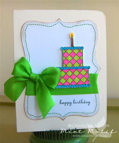 Mint Motif Cake Shoppe