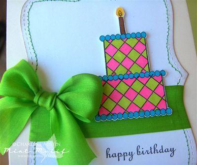 Mint Motif Cake Shoppe close up