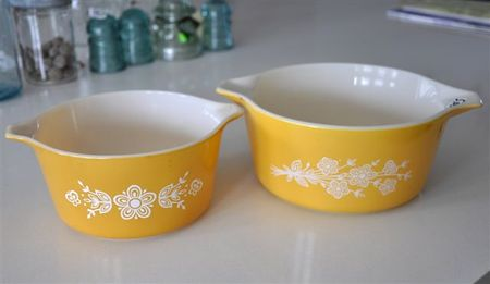 Yellow orange Pyrex